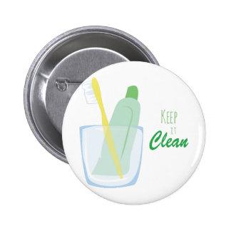 Keep it Clean 2 Inch Round Button