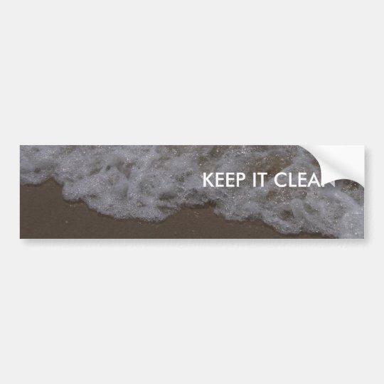 KEEP IT CLEAN BUMPER STICKER