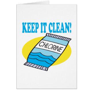 Keep It Clean Card