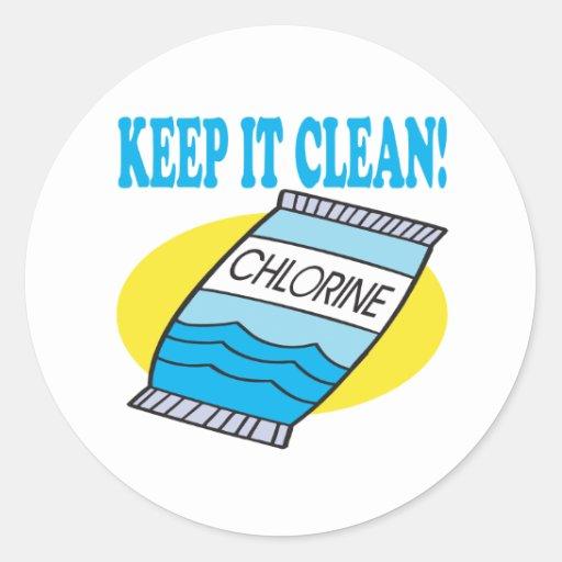 Keep It Clean Classic Round Sticker