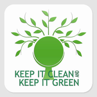 Keep It Clean Earth Day Stickers
