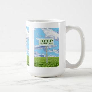 Keep It Clean Environmental Mug
