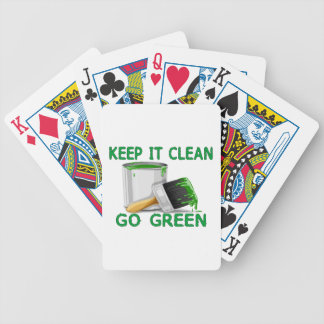 Keep It Clean Go Green Bicycle Playing Cards