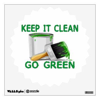 Keep It Clean Go Green Wall Sticker