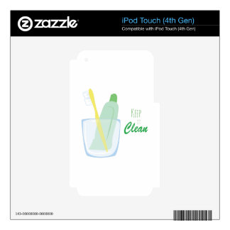 Keep it Clean iPod Touch 4G Skin