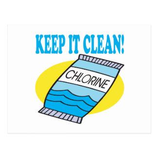 Keep It Clean Postcard