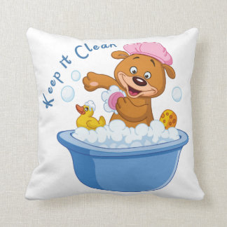 Keep it Clean Throw Pillow