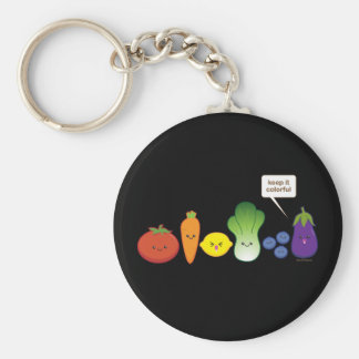 Keep It Colorful! Basic Round Button Keychain