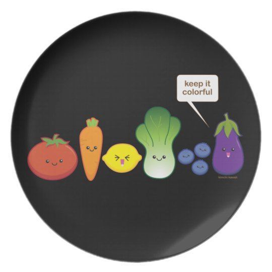 Keep It Colorful! Dinner Plate