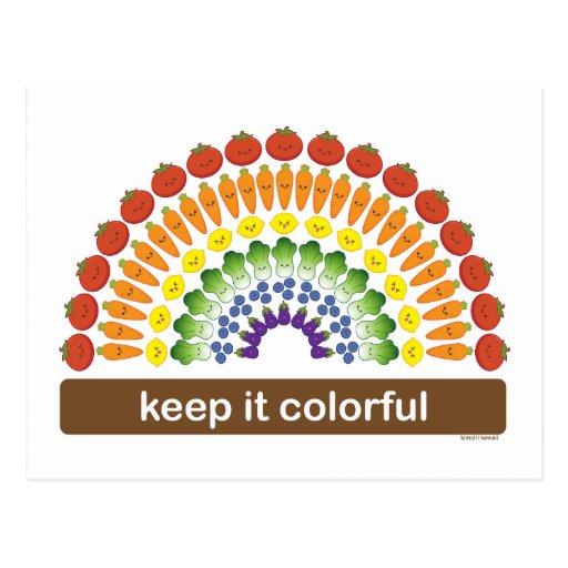 Keep It Colorful Postcard