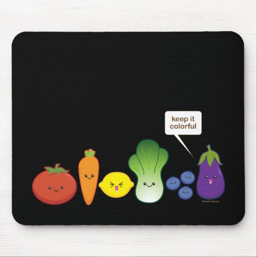 Keep It Colorful (Simple Design) Mouse Pad