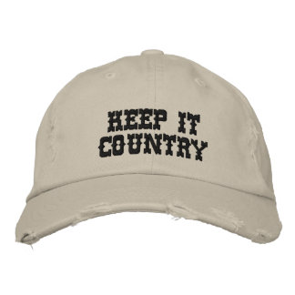 KEEP IT COUNTRY EMBROIDERED BASEBALL CAPS