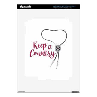 Keep It Country iPad 3 Skin