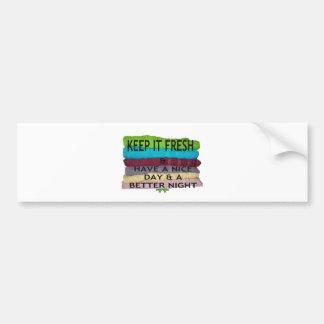 keep it freesh car bumper sticker