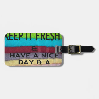keep it freesh luggage tags