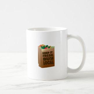 Keep It Fresh Buy Local Classic White Coffee Mug