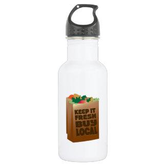 Keep It Fresh Buy Local 18oz Water Bottle