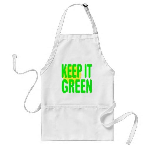 Keep It Green Adult Apron