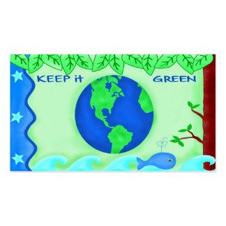 Keep It Green Business Card