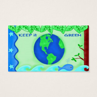 Keep It Green Business Card