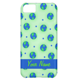 Keep It Green Earth Globe Pattern Art iPhone 5C Cover