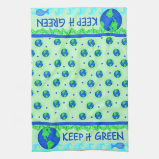 Keep It Green Ecology Kitchen Towell Hand Towel
