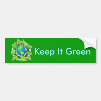 Keep it Green for Earth Day Bumper Stickers