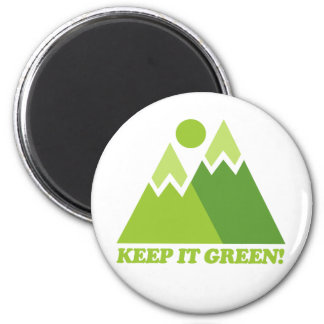 Keep it Green Mountains 2 Inch Round Magnet