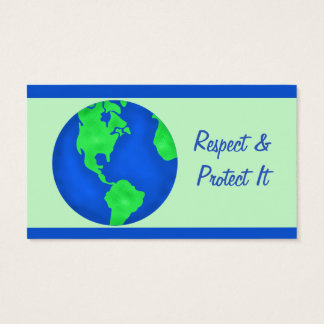 Keep It Green Protect Earth Environment Art Custom Business Card