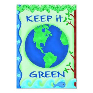 Keep It Green Save Earth Environment Art Card