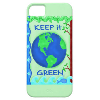 Keep It Green Save Earth Environment Art iPhone 5 Case