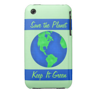 Keep It Green Save Earth Environment Art iPhone 3 Case-Mate Cases