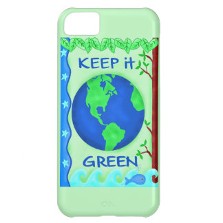 Keep It Green Save Earth Environment Art Case For iPhone 5C
