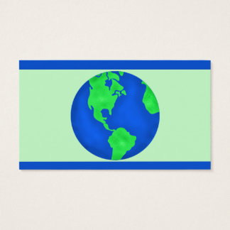 Keep It Green Save Earth Environment Art Custom Business Card
