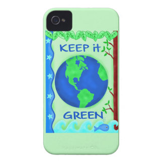 Keep It Green Save Earth Environment Art iPhone 4 Cover