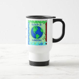 Keep It Green Save Earth Environment Art Coffee Mugs