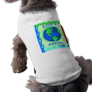 Keep It Green Save Earth Environment Art T-Shirt