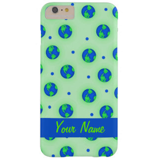 Keep It Green Save Earth Globe Pattern Art Barely There iPhone 6 Plus Case