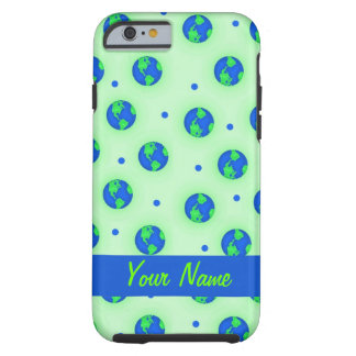 Keep It Green Save Earth Globe Pattern Art Tough iPhone 6 Case