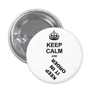KEEP IT IN ORDER PIN REDONDO 2,5 CM