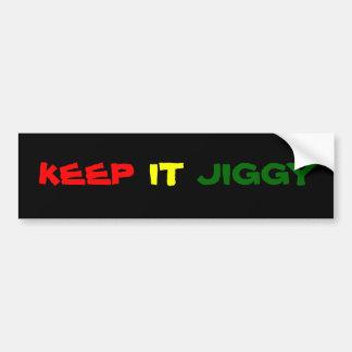 Keep It Jiggy Bumper Sticker