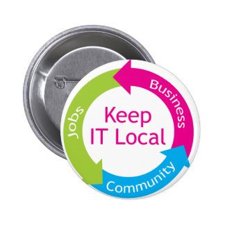 Keep It Local Pinback Button