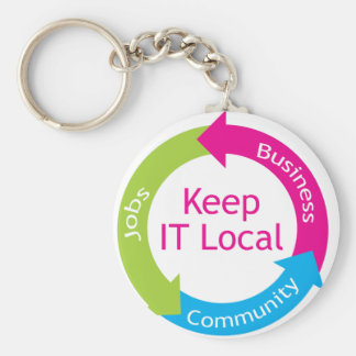 Keep It Local Keychain