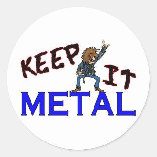 Keep It Metal Classic Round Sticker