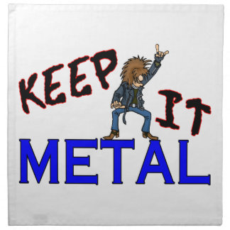 Keep It Metal Cloth Napkin