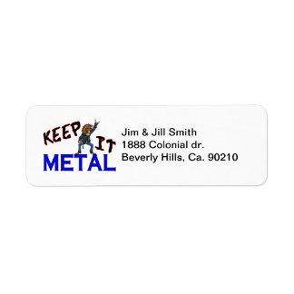 Keep It Metal Label