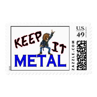 Keep It Metal Postage Stamp