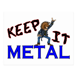Keep It Metal Postcard