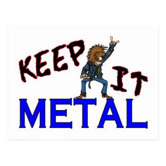 Keep It Metal Post Cards
