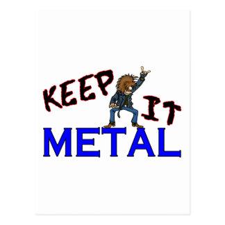 Keep It Metal Postcards